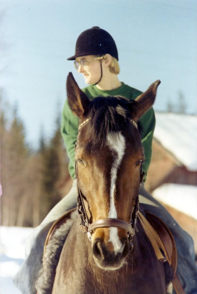 Yvonne och Ylva vintern 1976