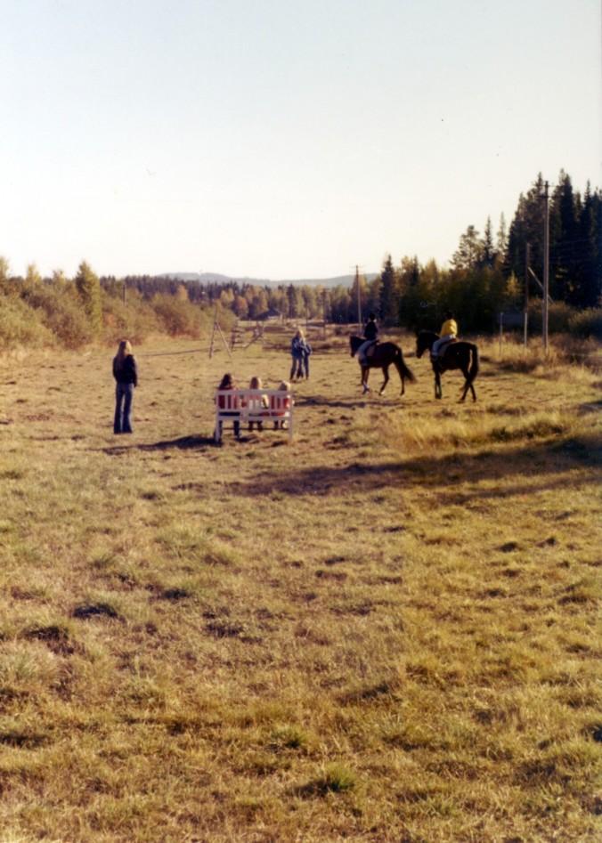 Ridlektion Långvattnet hösten 1976