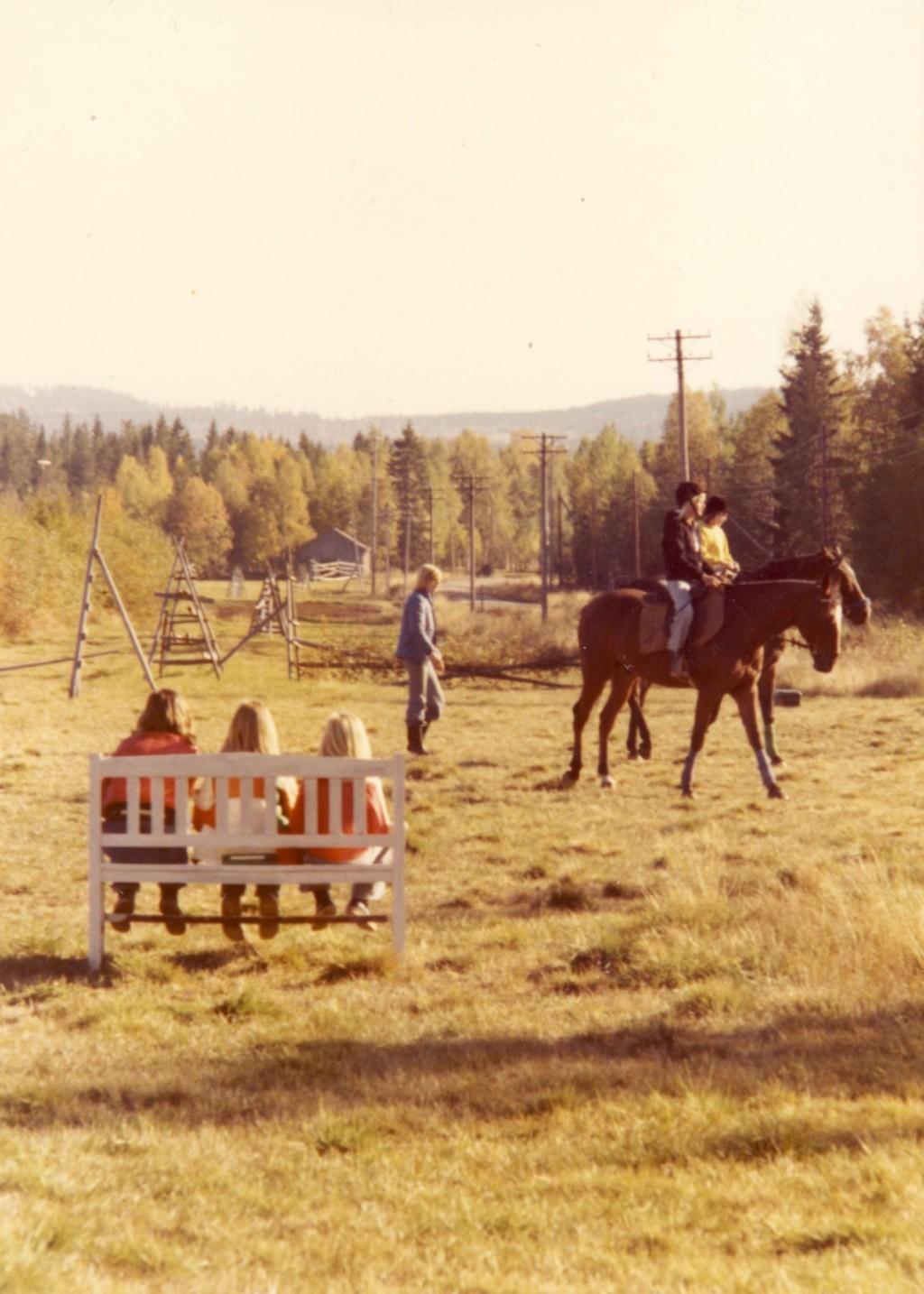 Ridlektion hösten 1976